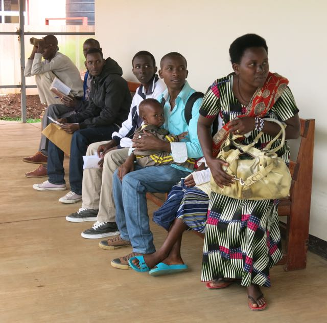 FTF day 4 patients outside theatre waiting for surgery
