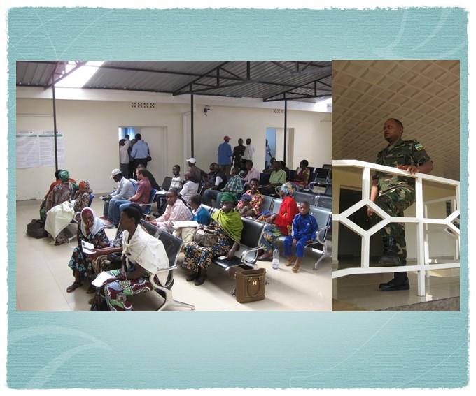 Waiting patients in Rwanda 2014