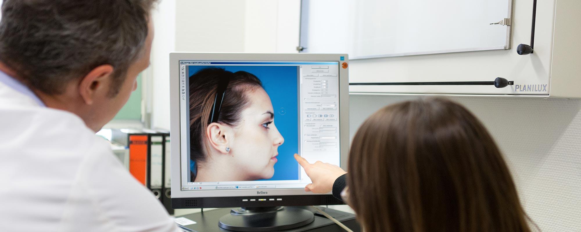 Computer- <br> simulation der Nase